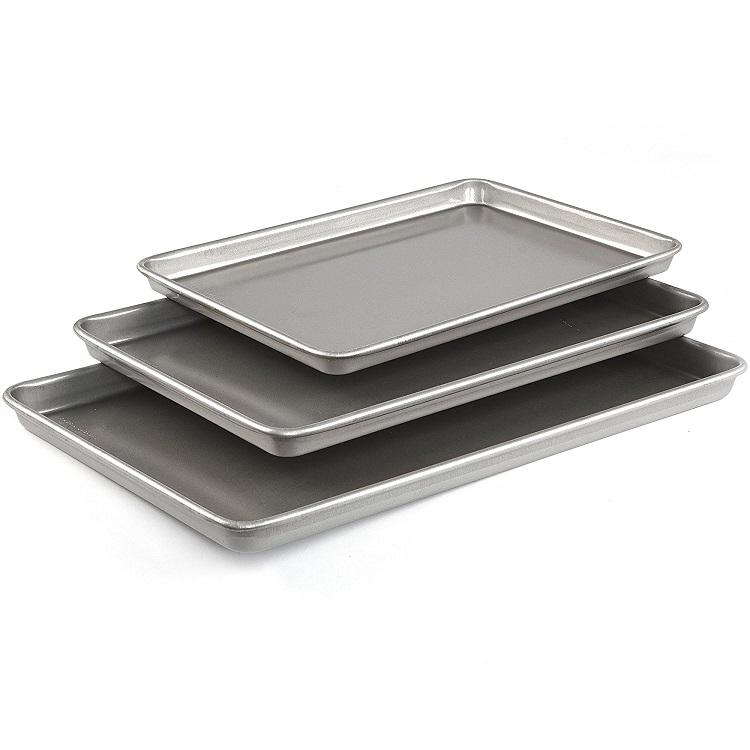 Emeril Lagasse 62671 Aluminized Steel Nonstick 3-Piece Cookie Sheet - top baking sheet