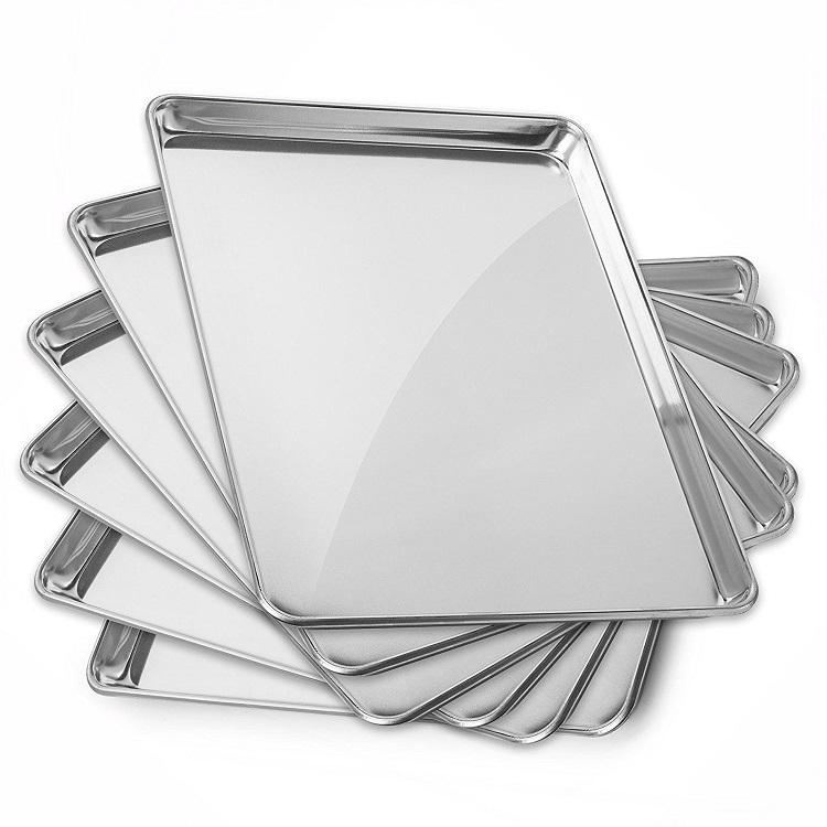 Gridmann Commercial Grade Aluminium Cookie Sheet - top baking sheet
