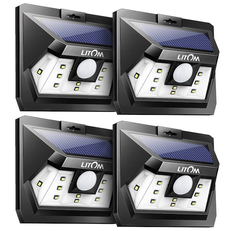 LITOM UPGRADED SOLAR LIGHTS OUTDOOR 10 LED - top solar garden lights