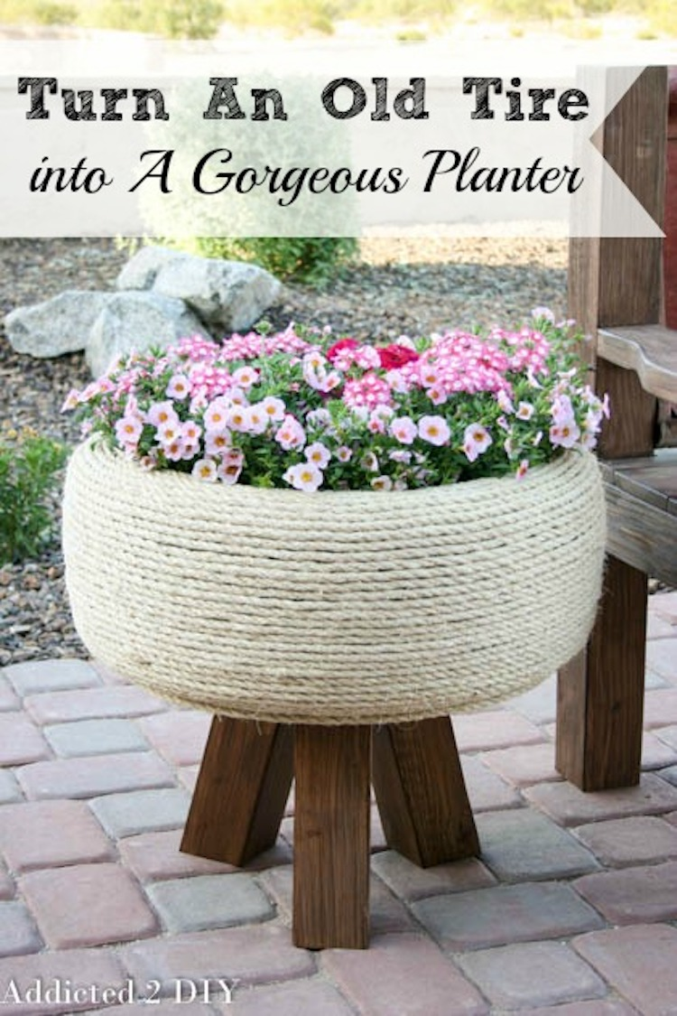 Gorgeous Retired Tire Planter