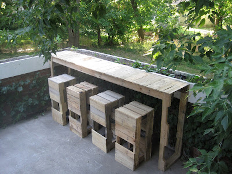 pallet bar:table
