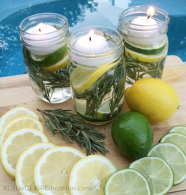 all natural bugs off! citronella candle