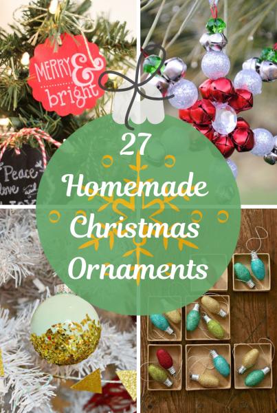 27 Homemade Christmas Ornaments