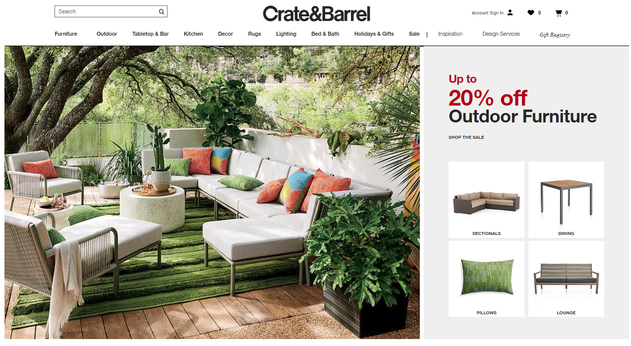 crate and barrel website