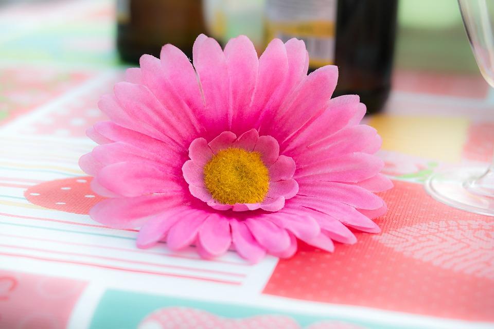 cut plastic flower