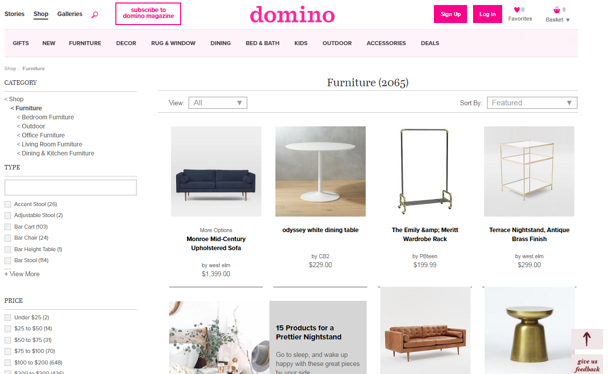 domino website