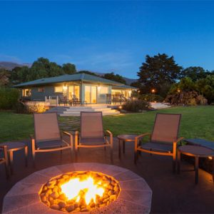chairs circled around fire pit