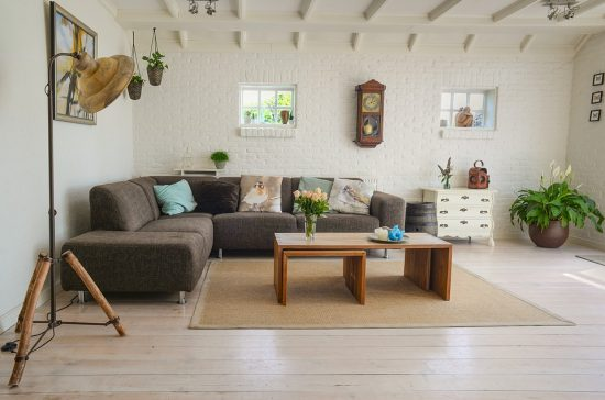 living room with couch and furnitures