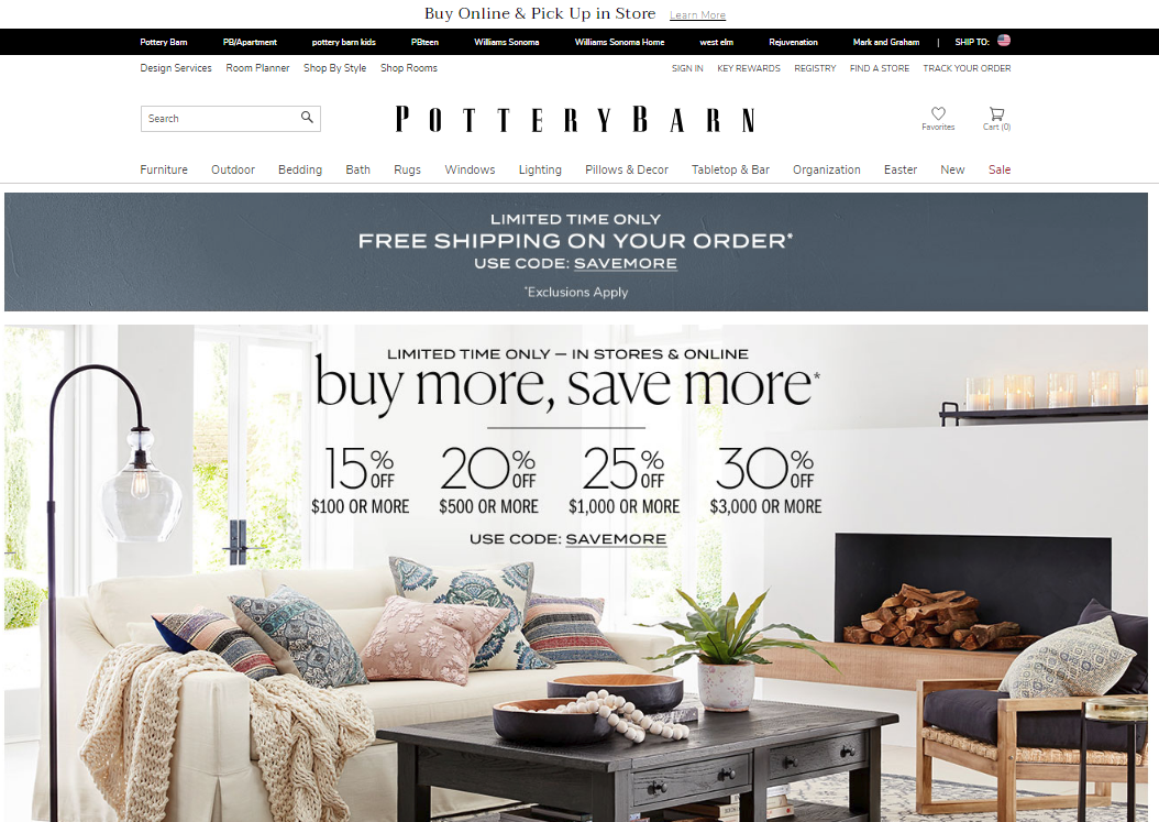 potterybarn website