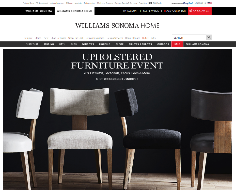 williams sonoma home website