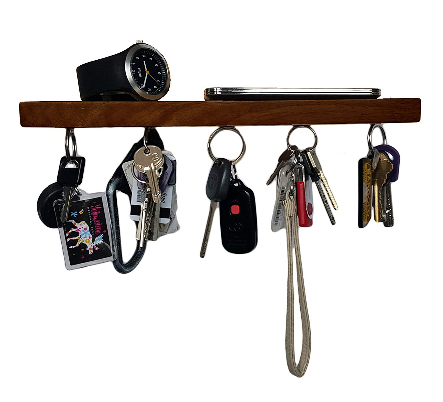 Brooklyn Basix Premium Magnetic Wood Key Ring Holder