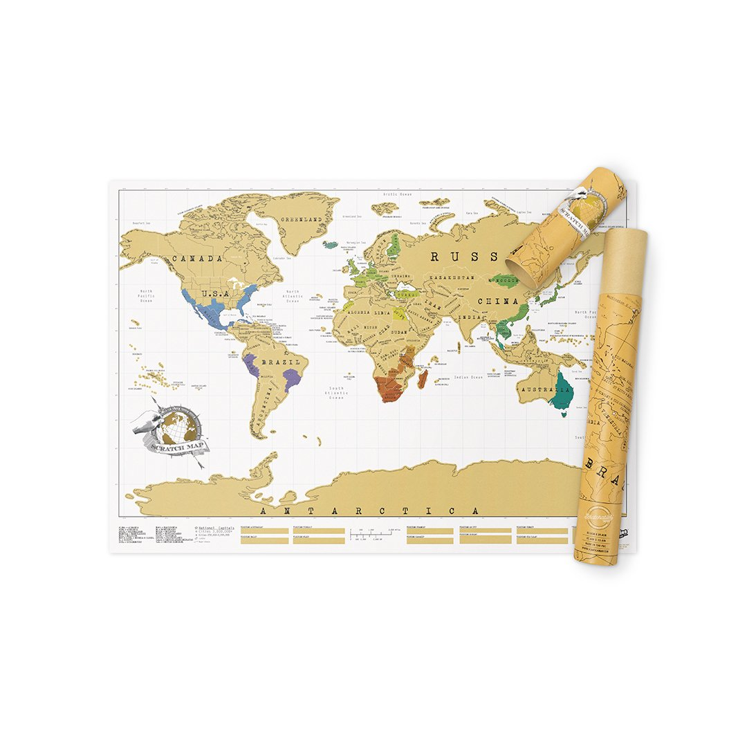 Scratch Map Original Scratch off Map, Personalized World Travel Map Poster with countries