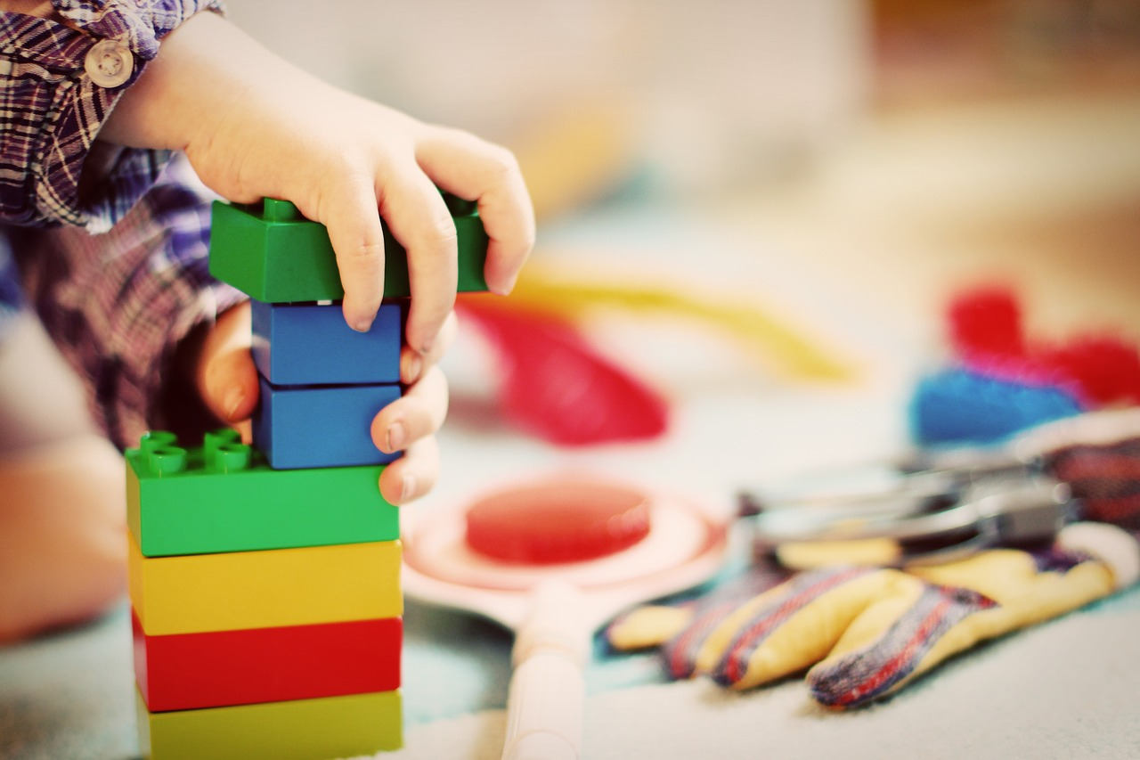 lego or building blocks - one of the best developmental toys for infants