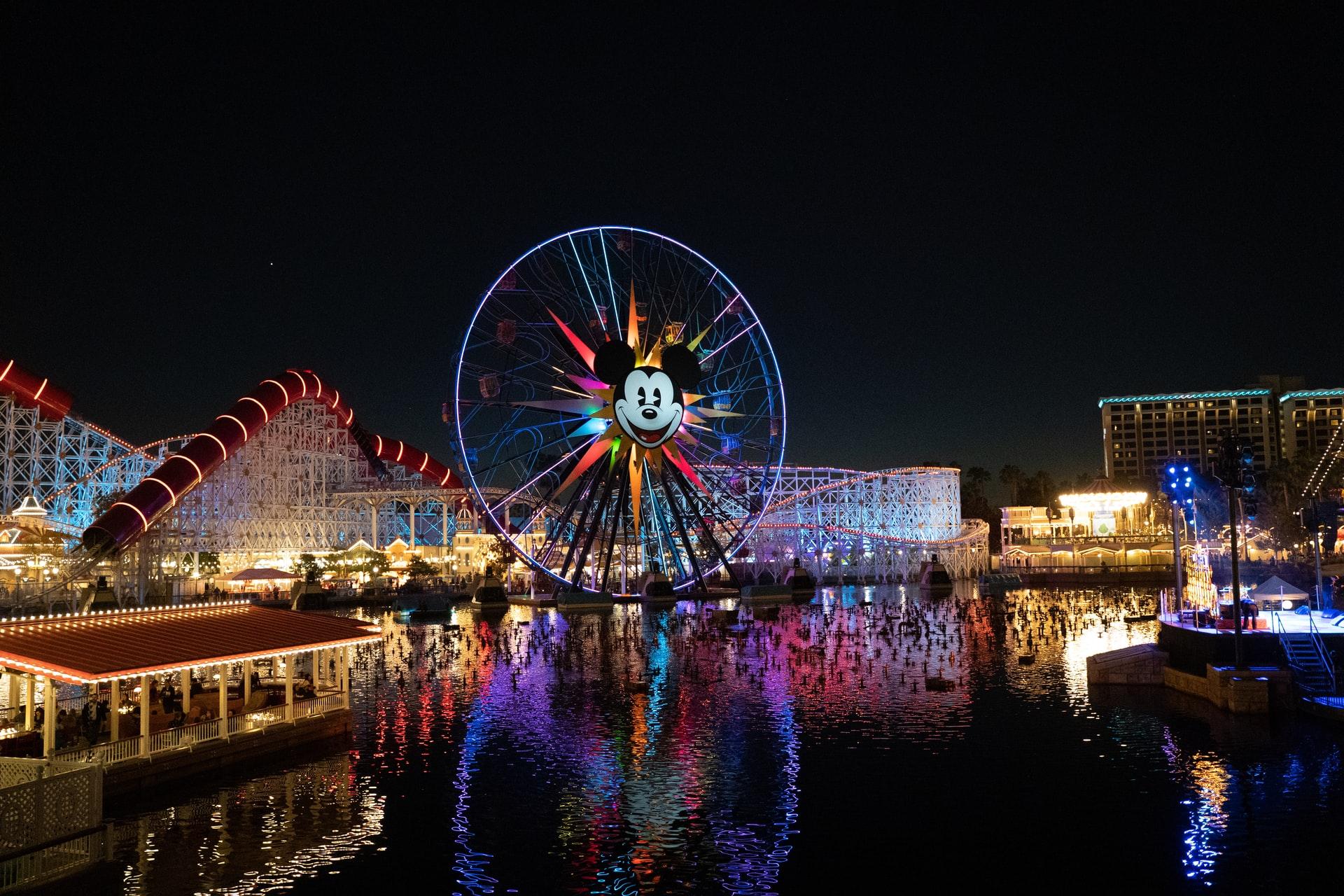 Disneyland amusement park in Anaheim, California