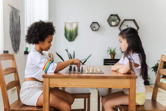 Girls Playing Chess