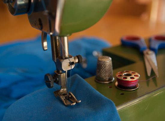 A sewing machine working on one of our Easy sewing projects for beginners