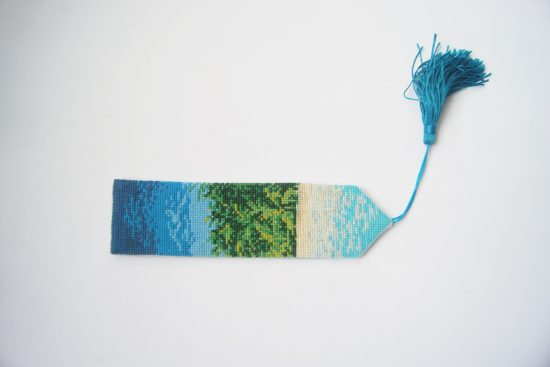 A cross stitch bookmark, which is yet another easy sewing projects for beginners.